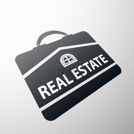 Illustration for Logo real estate. Flat design. Stock vector illustration. - Royalty Free Image