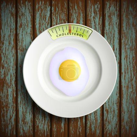 Scrambled egg. Stock illustration.