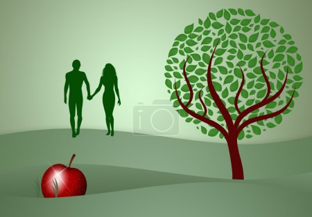 Adam and Eve silhouette