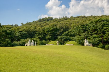 GIMPO, KOREA - SEPTEMBER 13, 2014: View of Jangneung, the tumb o