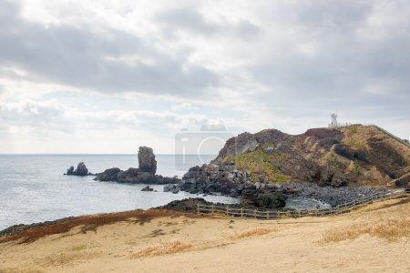 Landhead called Seobjicoji, Famous Place in Jeju Island.