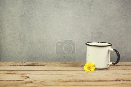 Enamel vintage coffee cup