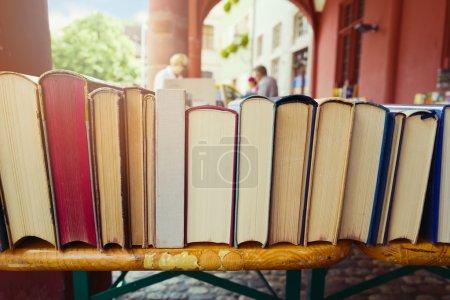 Photo for Vintage books at shop market - Royalty Free Image