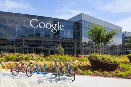Photo for MOUNTAIN VIEW, CA USA - July 14, 2014: Exterior view of a Google headquarters building. Google is an American multinational corporation specializing in Internet-related services and products - Royalty Free Image