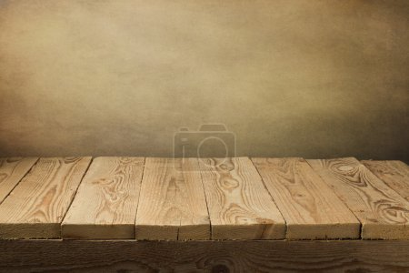 Wooden deck table