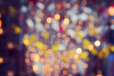 Photo pour Beau fond de bokeh. Lumières dorées défocalisées - image libre de droit