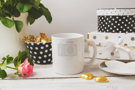 cup mock up with glamour feminine objects