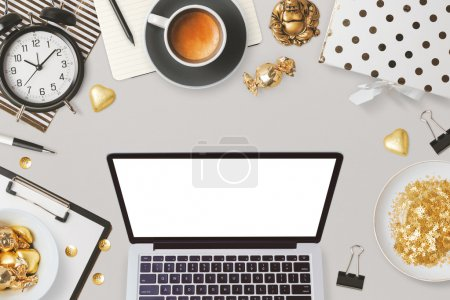 laptop and feminine glamour business objects