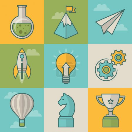 Icons for start up business and project