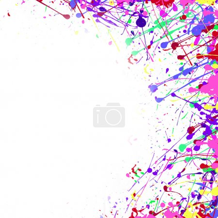 white background with brushstrokes