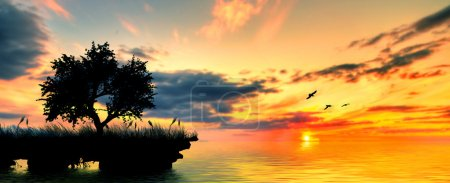 Photo for Beautiful nature landscape. seashore at sunset - Royalty Free Image