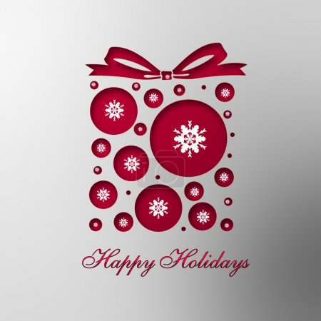 Photo for Christmas card. Happy holidays design - Royalty Free Image