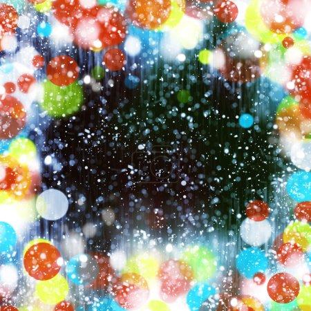 festive blurred sparkles