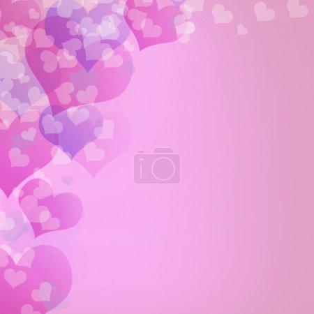 Photo pour Carte de voeux Saint Valentin coloré - image libre de droit