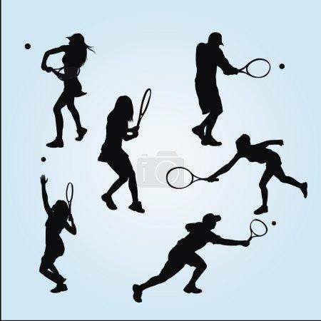 Illustration pour Tennis design sur fond de couleur - image libre de droit