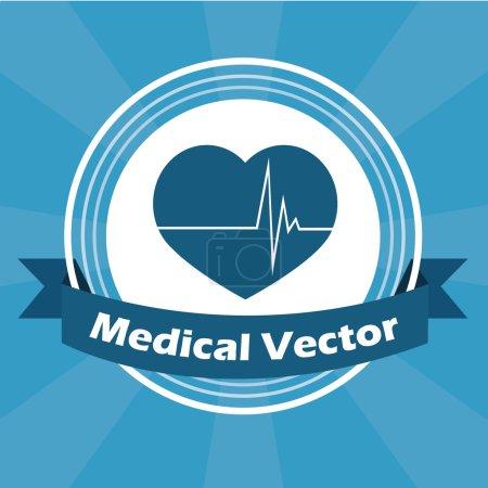 Medical illustration over blue color background