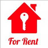 for rent illustration over white color background
