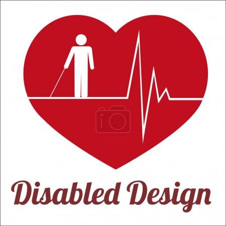 disabled illustration over white color background