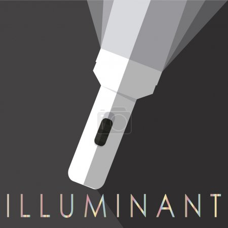 Illustration for White flash light over black color background color - Royalty Free Image