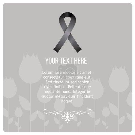 Condolences illustration over gray color background