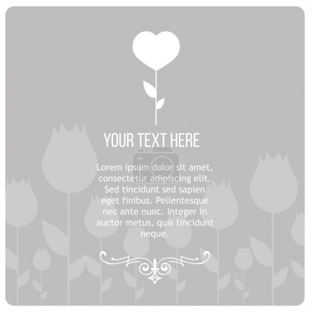 Illustration for Condolences illustration over gray color background - Royalty Free Image