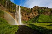 beautiful Icelandic waterfall.