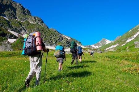HikeHiker in Caucasus mountainsr
