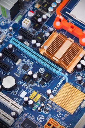 Photo for Printed circuit board with components - Royalty Free Image