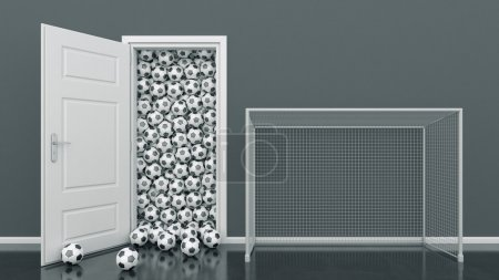 door with Soccer Ball