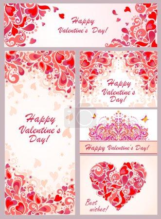 Illustration pour Modèles pour la Saint-Valentin - image libre de droit