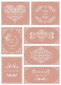 Vintage templates for wedding invitations