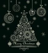 Ozdobné krajkové vánoční přání