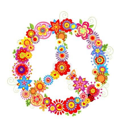 Vibrant peace flower symbol