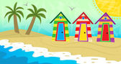 Beach dressing rooms