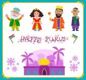 Purim Holiday Characters