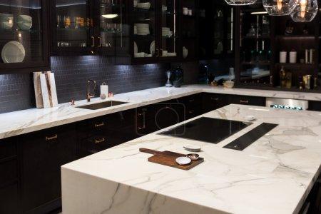 Cuisine en marbre haut de luxe
