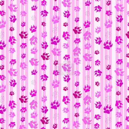 abstract background for desktop with pink cat footprints or traces