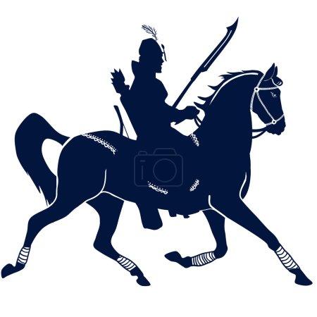 Knight on horseback illustration...