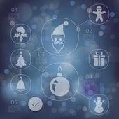 Vánoční infographic pozadí