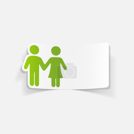 Illustration for Realistic couple in love vector design - Royalty Free Image
