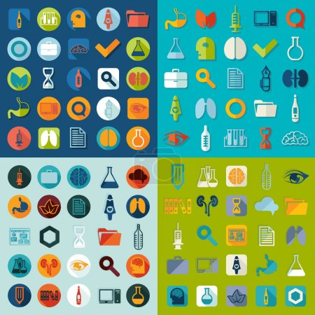 Illustration for Set of medical icons. Vector illustration - Royalty Free Image