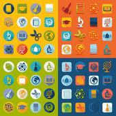 Set of education flat icons
