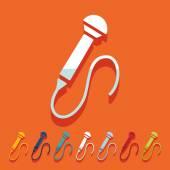 Flat design: microphone