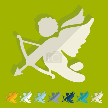 Illustration for Flat design: angel - Royalty Free Image