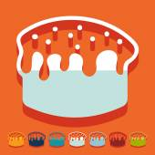 Easter cakes icon