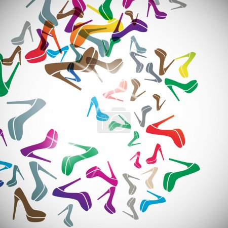 Abstract background: shoe