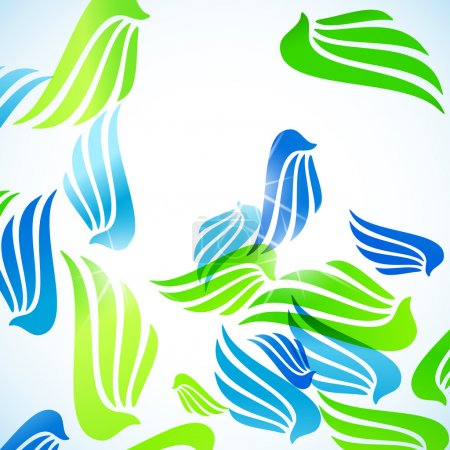 Illustration for Abstract background: wing. Vector illustration - Royalty Free Image