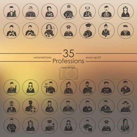 Photo pour Ensemble d'icônes des professions. Illustration vectorielle - image libre de droit