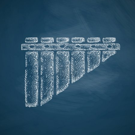 Panpipes icon on chalkboard