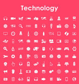 Set of technology simple icons